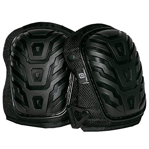 Professional Knee Pads by GreatSimply - Heavy Duty EVA Gel Foam Padding, Comfortable Neoprene Anti-Slip Strap - For Construction, Gardening, House Cleaning, Flooring And Extreme Tough Industrial Work