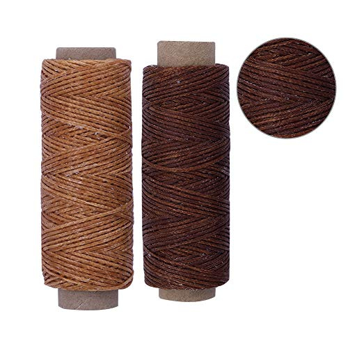 BUTUZE 550Yards Leather Sewing Waxed Thread,150D 55Yards Per Spool Stitching Thread for Leather Craft DIY,Bookbinding,Shoe Repairing,Leather Projects