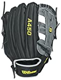 Wilson Youth Advisory Staff Yasiel Puig Baseball Glove, Black/Grey, Right Hand Throw, 12-Inch