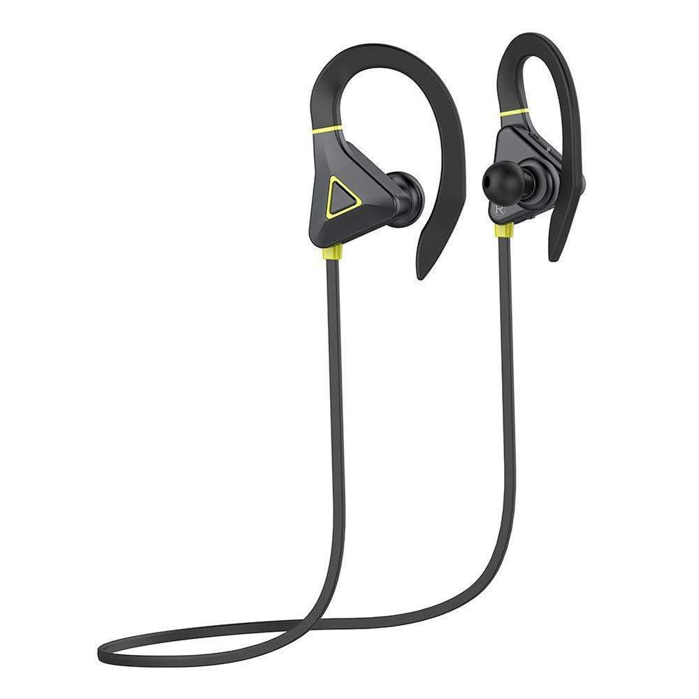 Mini Bluetooth Sport Headphones, elecfan Wireless Hearset Earphones with Mic Handsfree In Ear Headphone Waterproof IPX5 Earphone Stereo Bass Sound Noise Cancellation Earphone (Yellow)