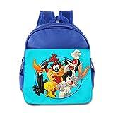 Kids Looney Tunes School Backpack Cute Baby Boys Girls School Bags RoyalBlue