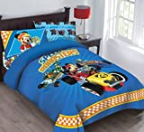 Disney Mickey Mouse Speed Roadster Licensed Twin Comforter Set Set w/Fitted Sheet