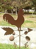 48'' Metal Antirust Color Cock Wind vane Direction Sign Home Garden Decor