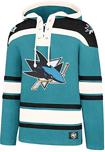 27ff66c8ab3d9 '47 Brand NHL San Jose Sharks Lacer Hoody Jersey Trikot Kapuzenpullover  Forty Seven