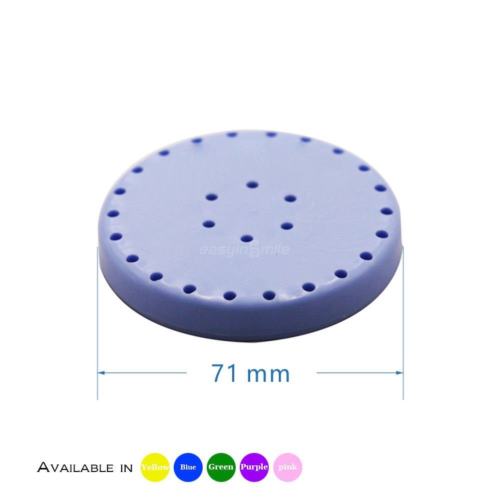 Easyinsmile Magetic Bur Stand Holder Block Dental Bur Organizer 1pcs/pack (L, Blue)