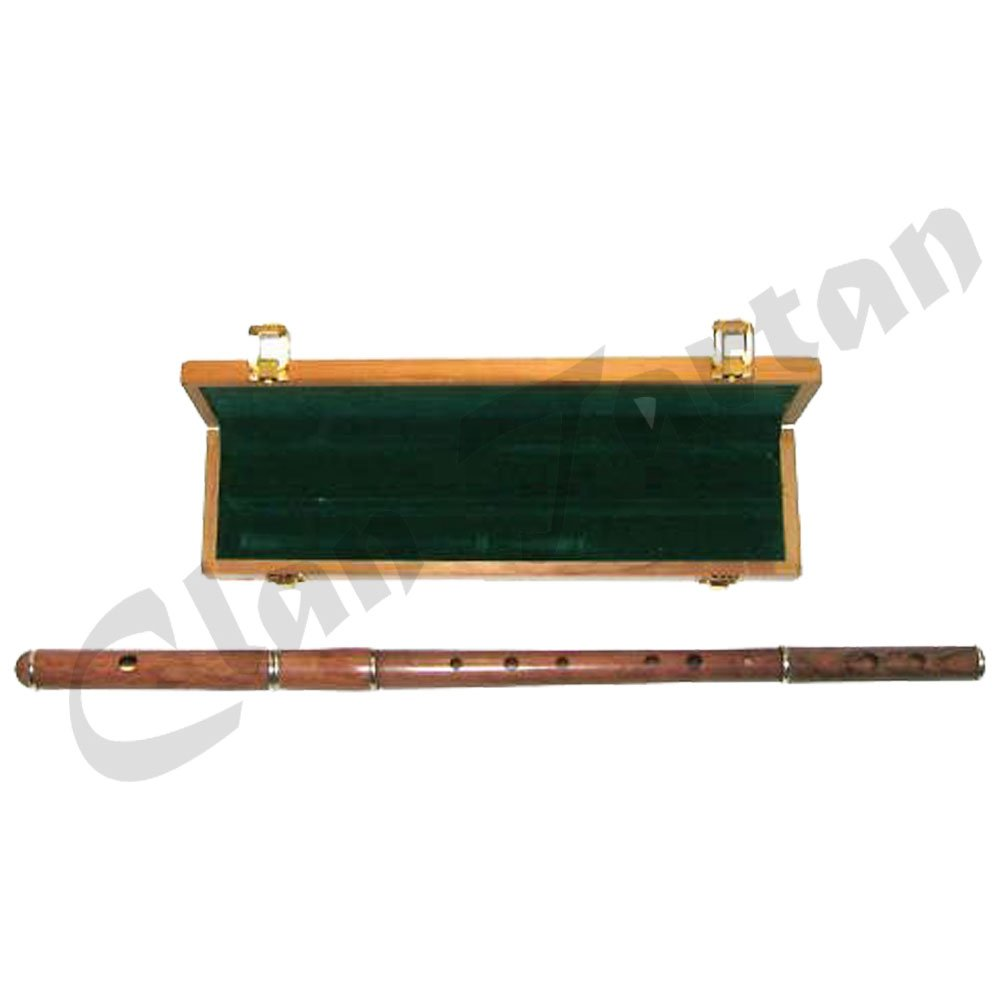 Professional-D-Flute-Sheesham-Wood-Natural-Finish-with-Wooden-Case