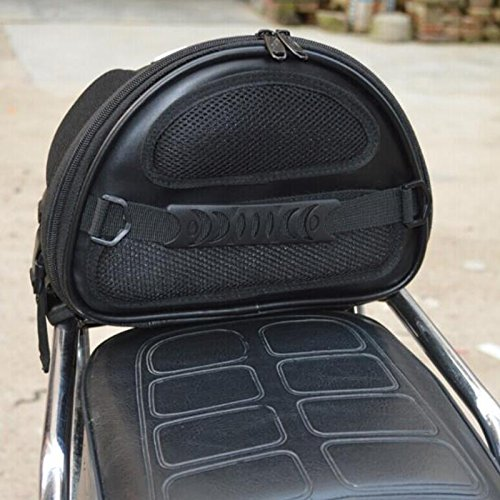 vinmax Motorcycle Backseat Saddle Bags Bicycle Cycling Basket Handle Bar Bag Waterproof for Travel Riding Tail Rack Bag,Black