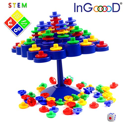 YiGooood Balance Board Game Set - Stacking Games Family Activity Desktop Game Topple Puzzles Development IQ Balance Toys For Children