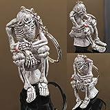 1 Pc Heart-Stopping Unique Mini Pocket Skull Ghost Toilet Skeleton Multiple Tool Teen Spook Devil Phantom Apparition Specter Goblin Brownie Bugaboo Haunt Water Closet Gift Color Grey