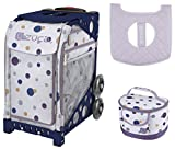 Zuca Sport Bag - Confetti with Gift Lunchbox and Seat Cover (Navy Frame)