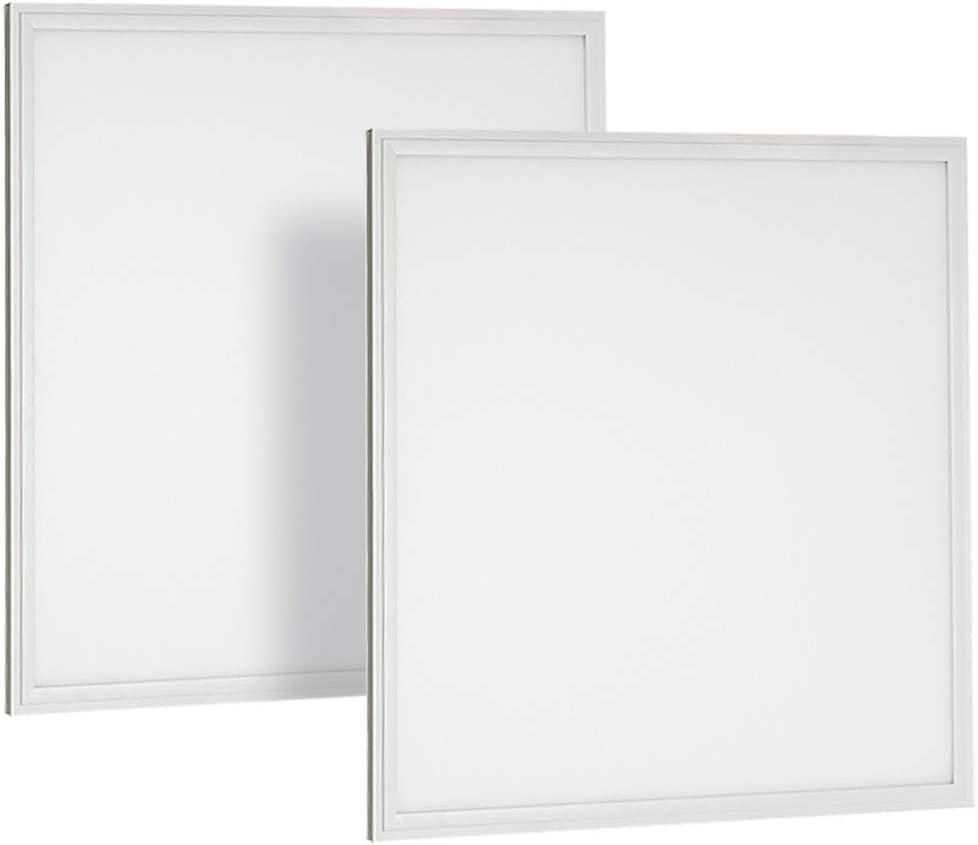 Neox 2x2 LED Flat Panel Light 27W 5000K (Daylight) Edge Lit Fixture 0-10V Dimmable 120-277V Drop Ceiling Light Indoor Commercial Fixture - UL Listed DLC Certified - 2 Pack - -