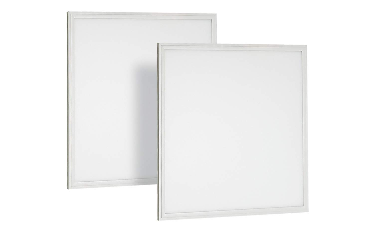 Neox 2x2 FT 27W 5000K Flat LED Troffer Panel Light, 0-10V Dimmable Drop Ceiling Flat Panel, Recessed Edge-Lit Troffer Fixture, 3064m UL & DLC - 2 Pack