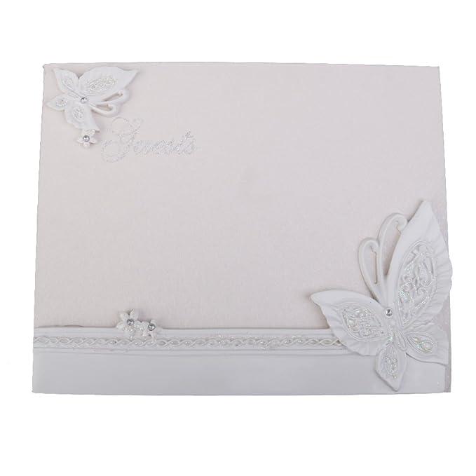 2 opinioni per Matrimonio Elegante Resina Libro Degli Ospiti Diamante Farfalla Libro Firma