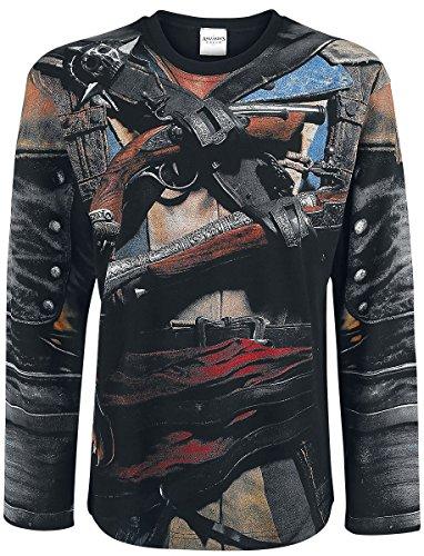 Spiral - Assassins Creed IV Black Flag - Allover Licensed Longsleeve T-Shirt (X-Large)