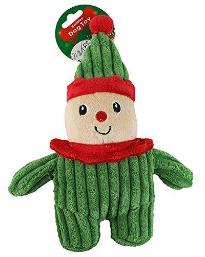 Midlee Christmas Corduroy Dog Toy Elf