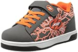 Heelys Boys' Dual up x2 Sneaker, Charcoal/Orange, 2 M US Little Kid