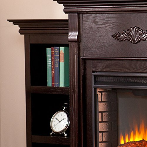 037732285450 - Tennyson Electric Fireplace w/ Bookcases - Classic Espresso carousel main 5