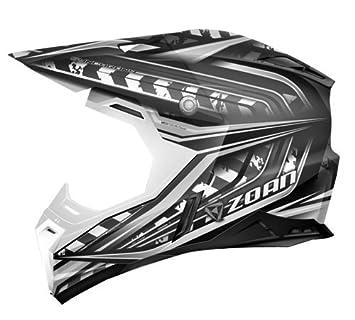 Zoan sincronía Monster Negro Plata Offroad MX motocicleta casco de equitación, tamaño mediano