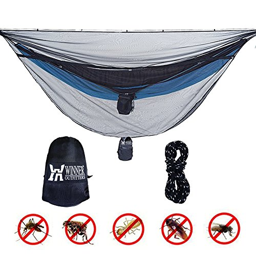 WINNER OUTFITTERS Hammock Bug Net, Polyester Mess Net for 360 degree Protection fit for all type Hammock,keep Keeps No-See-Ums, Mosquitos and Insects Out,Lightweight & Portable?Easy to Set Up