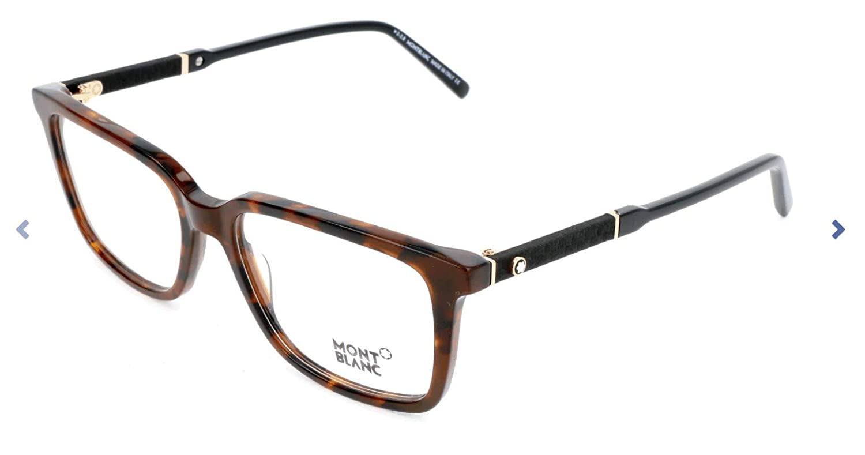 Eyeglasses Mont Blanc MB 0675 052 Dark Havana Clear Lens