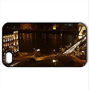 Budapest Nightshot - Case Cover for iPhone 4 and 4s (Watercolor style, Black)
