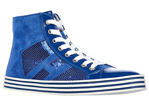 rebel High Schuhe r141 laterale Damenschuhe Sneakers Damen Hogan pai Rebel Leder RxwqX0S1C