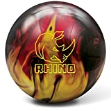 Brunswick Rhino Bowling Ball, Red/Black/Gold, 14 lb