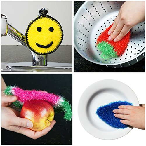 Dish Sponge for Washing Dishes (3 PK Mix) - Dish Scrubber Antibacterial