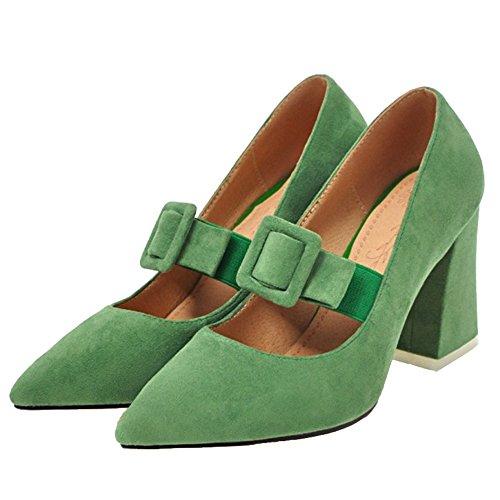 Verde De Con Sintético Mujer Material Onewus Cuña Sandalias x70wntZ4