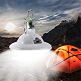 Portable Solar Powered LED Rechargeable Bulb Light,Vovomay...