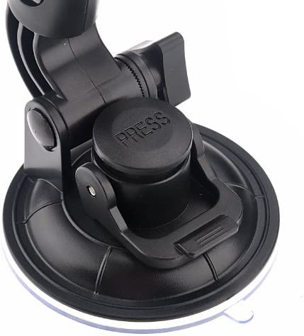 Black Durable Tripod Holder Gadget for GoPro New Hero //HERO6 //5//5 Session //4 Session //4//3+ //3//2 //1 ST-72 9cm Diameter Car Window Plastic Cup Suction Mount Xiaoyi and Other Action Cameras
