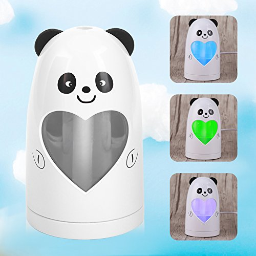 Mist Humidifier Ultrasonic USB Portable Air Humidifiers Purifier for Cars Office Desk Home Babies kids Bedroom 180ML Mini Desktop Cup Humidifier(Panda) by YosooXX (Image #2)