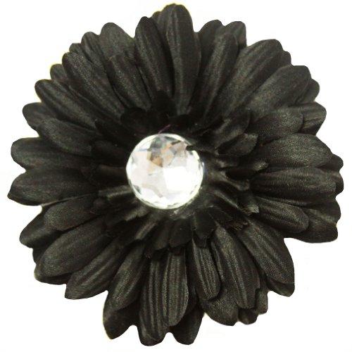 Black Rhinestone Clip - 4