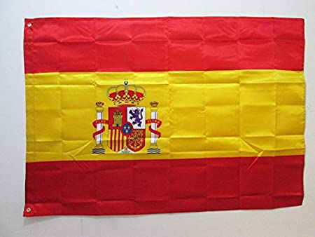 AZ FLAG Bandera de ESPAÑA 150x90cm en Raso - Bandera ESPAÑOLA 90 x ...