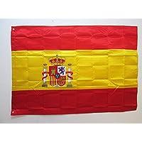 Spanje Vlag 150x90 cm in satijn - Spaanse vlaggen 90 x 150 cm - Banner 3x5 ft met tules - AZ FLAG