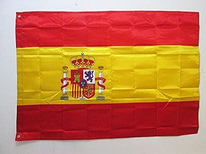 BANDERA de ESPAÑA 150x90cm en raso - BANDERA ESPAÑOLA 90 x 150 cm - AZ FLAG