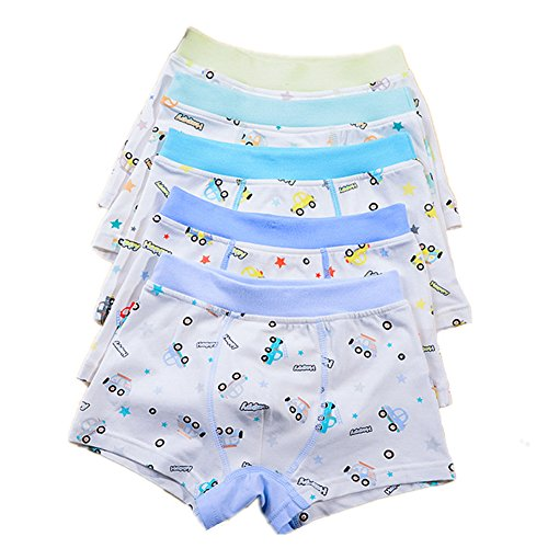 Organic Cotton Brief (Boys 5 Pack Comfort Soft Boxer Brief Cotton Underwear (2-4 years, Car))