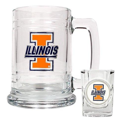 - NCAA Illinois Fighting Illini Boilermaker Set