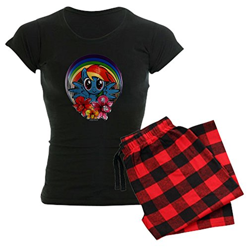 CafePress - My Little Pony Rainbow Dash Flowers Pajamas - Womens Novelty Cotton Pajama Set, Comfortable PJ -