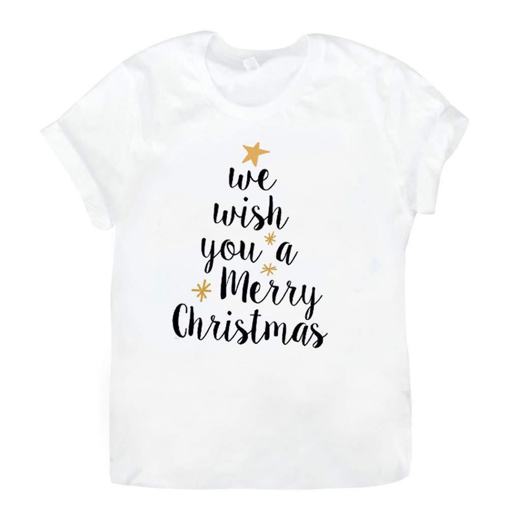 Regalo di Natale VJGOAL Donna 2019 Nuovo Natale T-Shirt con Divertente Lettera per Festa di Natale all My Friends Are Feakes La Migliore Decorazione Natalizia