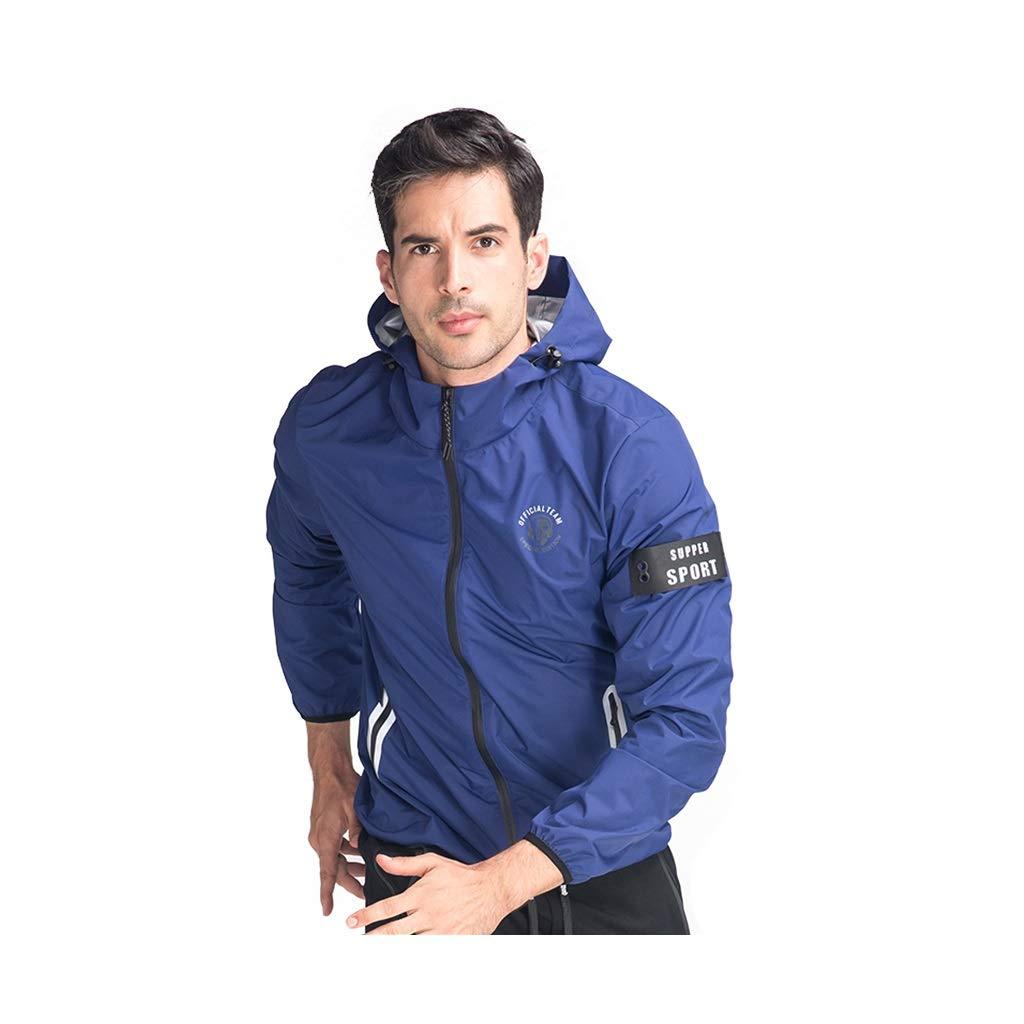 Trainingsanzug Blauer heftiger Männliche Kontrolle Schweres Fieber Schweiß Laufbekleidung Gewichtsverlust Gewichtsverlust Kleidung Sport Schweiß