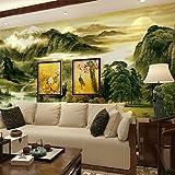 zhENfu Large - scale Murals Chinese Wallpaper Living Room Sofa Backdrop Landscape Ink Landscape PaintingXL XXL XXXL,3XL