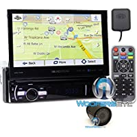 pkg Soundstream VRN-75HB In-Dash 1-DIN 7 DVD Receiver with Bluetooth, GPS Navigation and Android PhoneLink with XO Vision HTC 35 Backup Camera with Nightvision