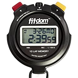 Best Coach Stopwatch, a Digital Sports Timer + Lanyard that Tracks Performance w/10 Laps Memory & 1/100 Sec with Precision. Large Display & Font Ideal for Trainers, Competition & More