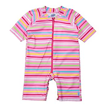i play. One-Piece Swim Sunsuit for 12 to 18 Months Babies, Pink, 18 Months