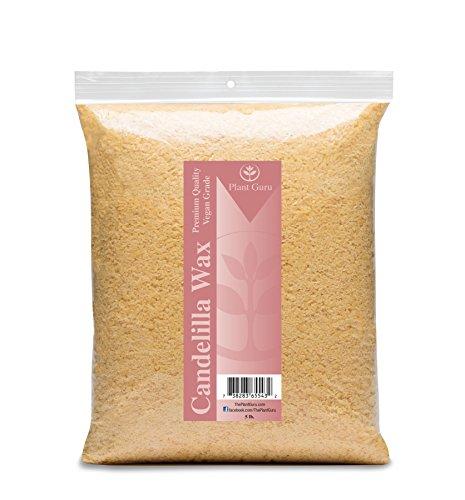 Premium Candelilla Wax (Vegan Wax) 100% Natural and Pure Wax Flakes, 5 lb