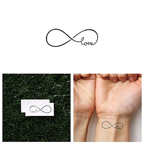 Tattify Love Temporary Tattoo - Attached (Set of 2) - Other Styles Available - Fashionable Temporary Tattoos