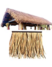 Palm Thatch,Artificial Thatch Fire Thatch Brick Antiseptic Simulated Thatch Fake Straw Decorative Garden (Color : 2pcs, Size : 50x50cm)