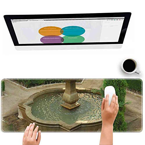 Mouse Pad Rectangle Mouse Pad Alhambra Fountain Spain Granada Garden Moorish #338588 Lovely 260mm210mm3mm ()