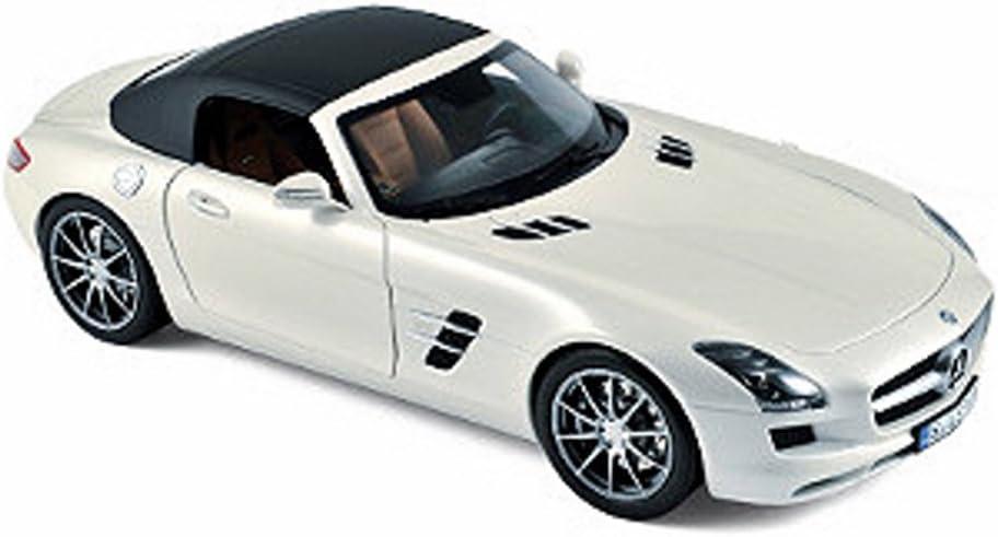 NOREV 183491 2011 MERCEDES BENZ SLS AMG ROADSTER 1//18 DIECAST PEARL WHITE